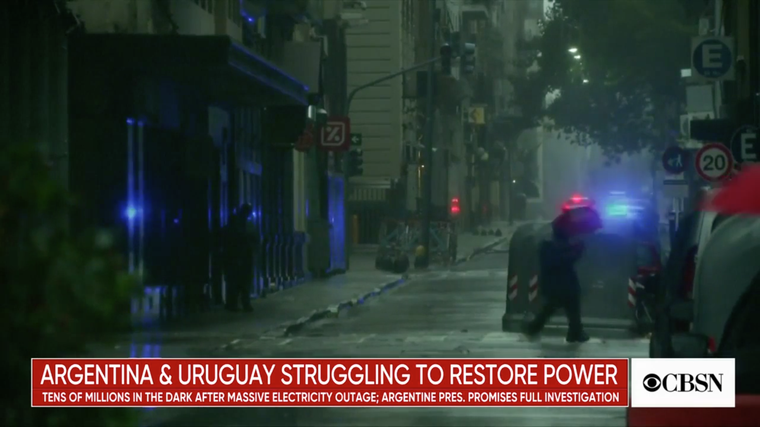 ( CBS News ) Crippling blackout hits tens of millions in South America