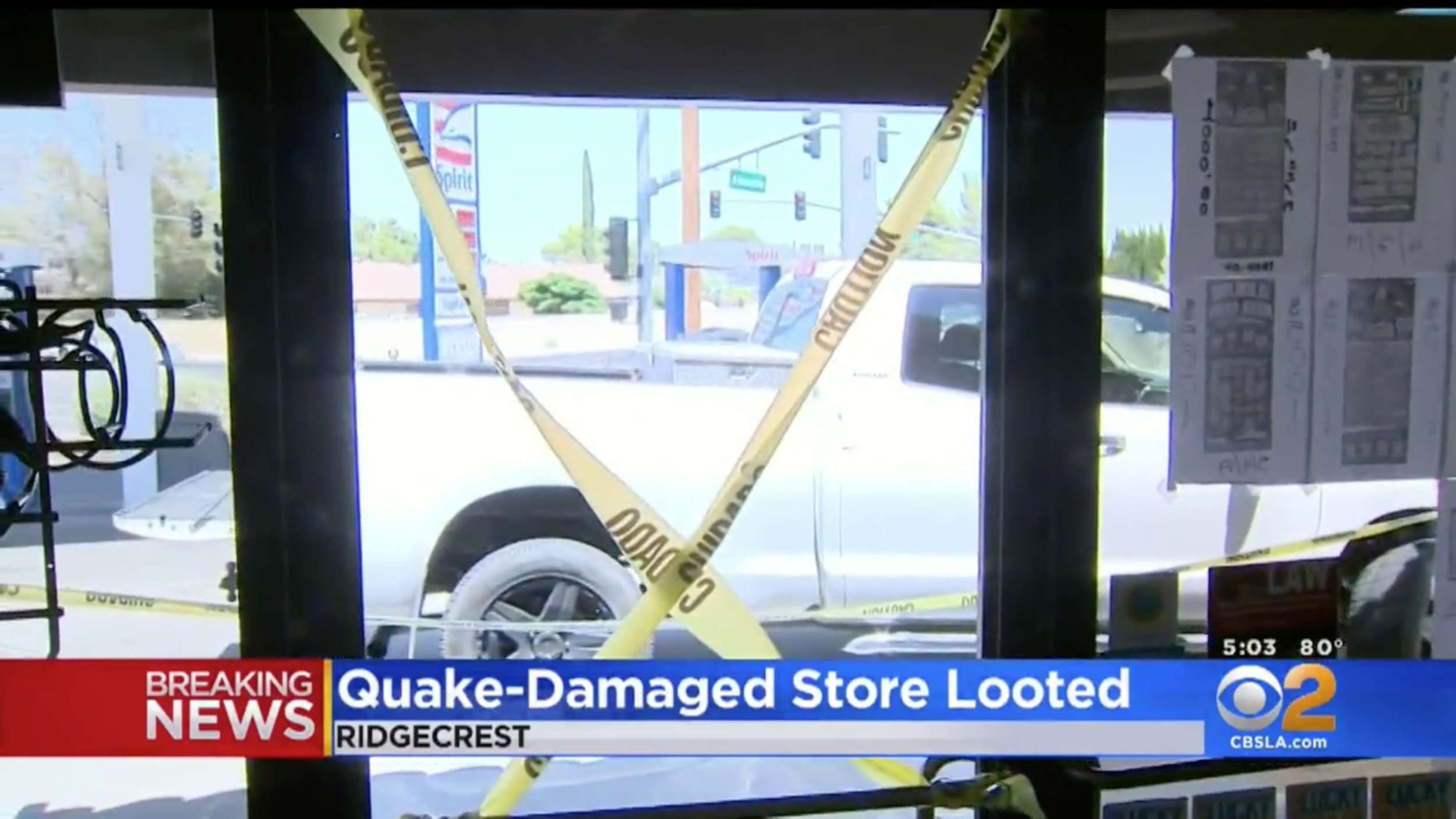 Earthquake-Damaged Liquor Store LOOTED in Ridgecrest, CA