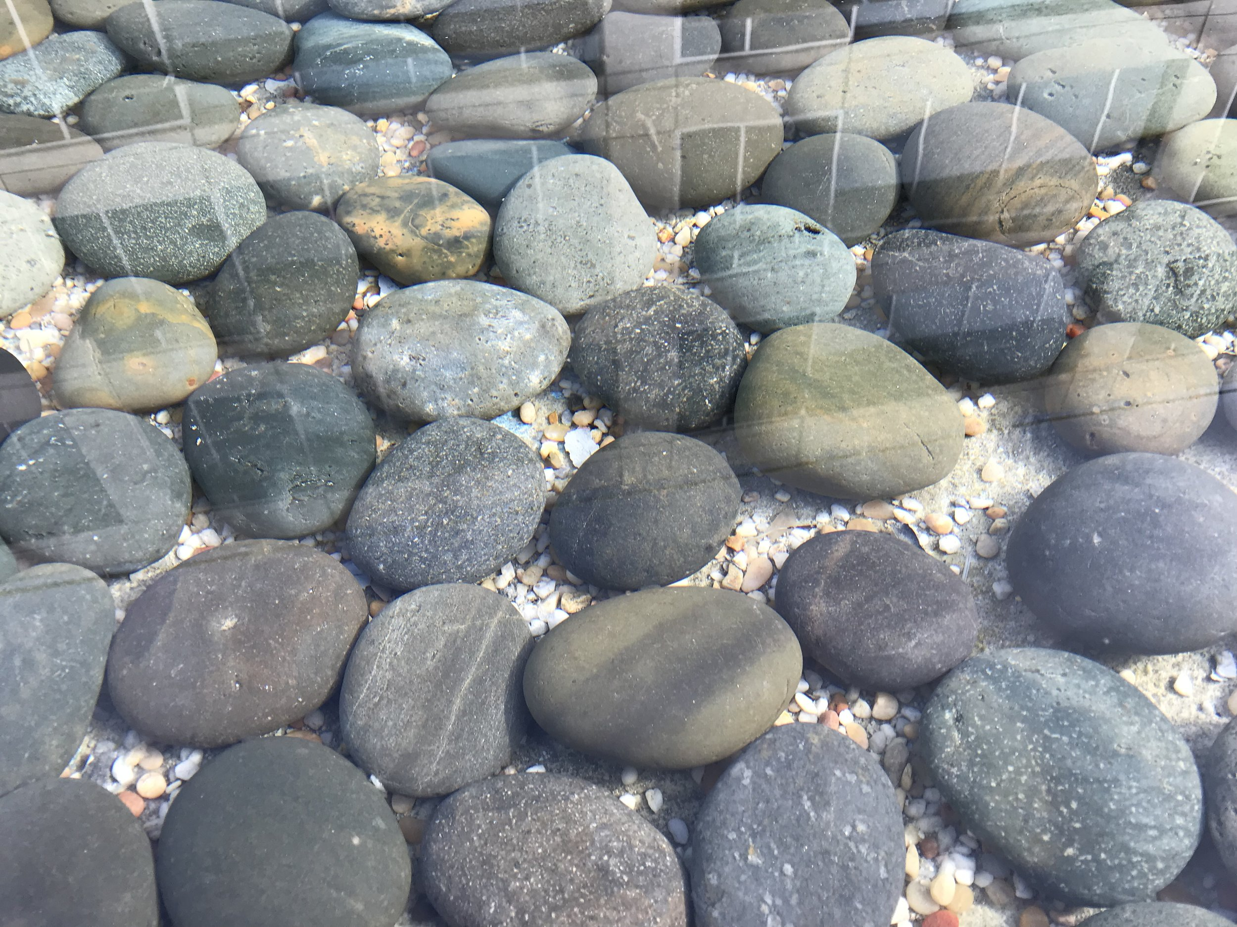 Just a cool pic of stones at the bottom of a fountain pool I saw this weekend.
