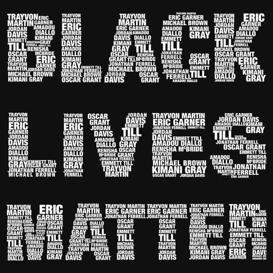 "Stupid Black Lives Matter meme with various names of dead supposed black ""victims."""