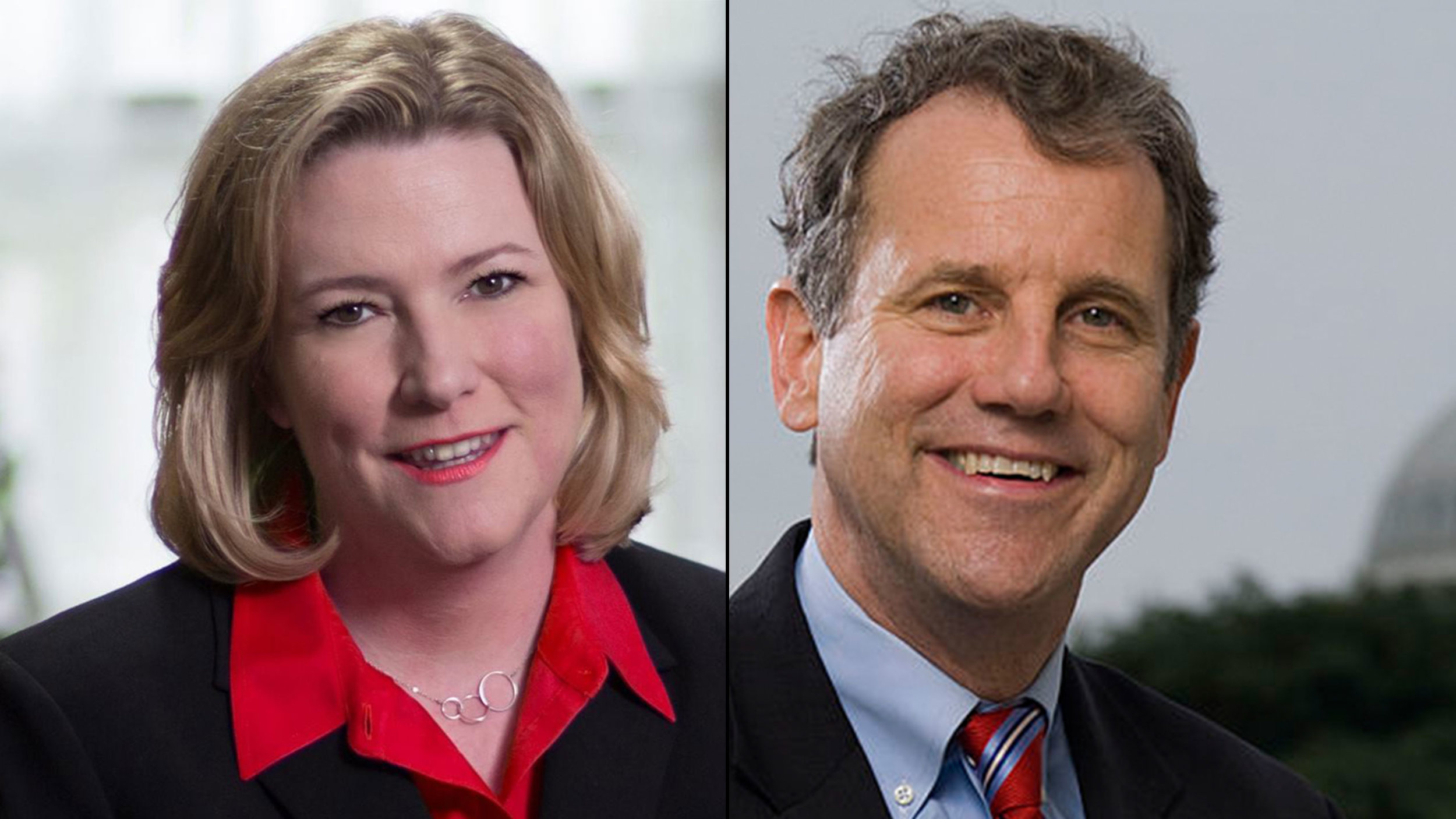 "Photos of Ohio Democrats Dayton Mayor Nan Whaley and Senator Sherrod Brown (both white), who've attacked Trump for his supposed ""rhetoric"" supposedly contributing to the hate and shootings."
