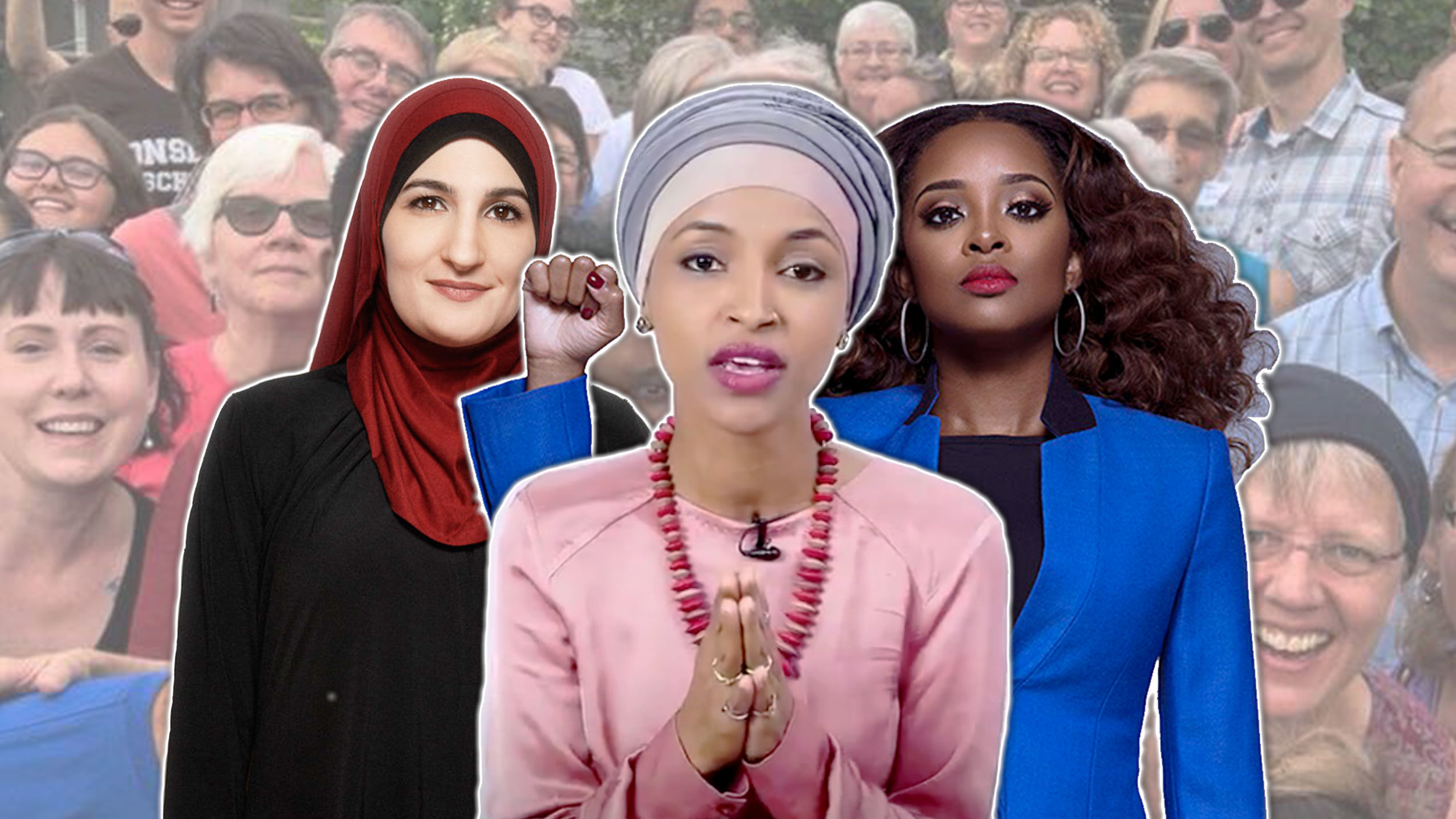 Linda Sarsour, Ilhan Omar, and Tamika Mallory, white-haters, man-haters, America-haters…