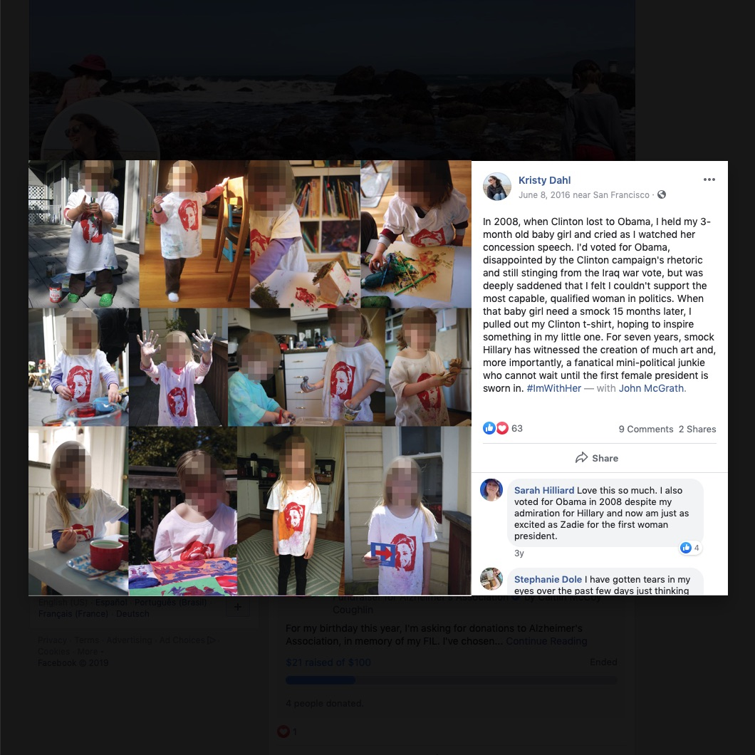 """Liberal """"climate scientist"""" woman dressed her daughter up in a Hillary t-shirt."""