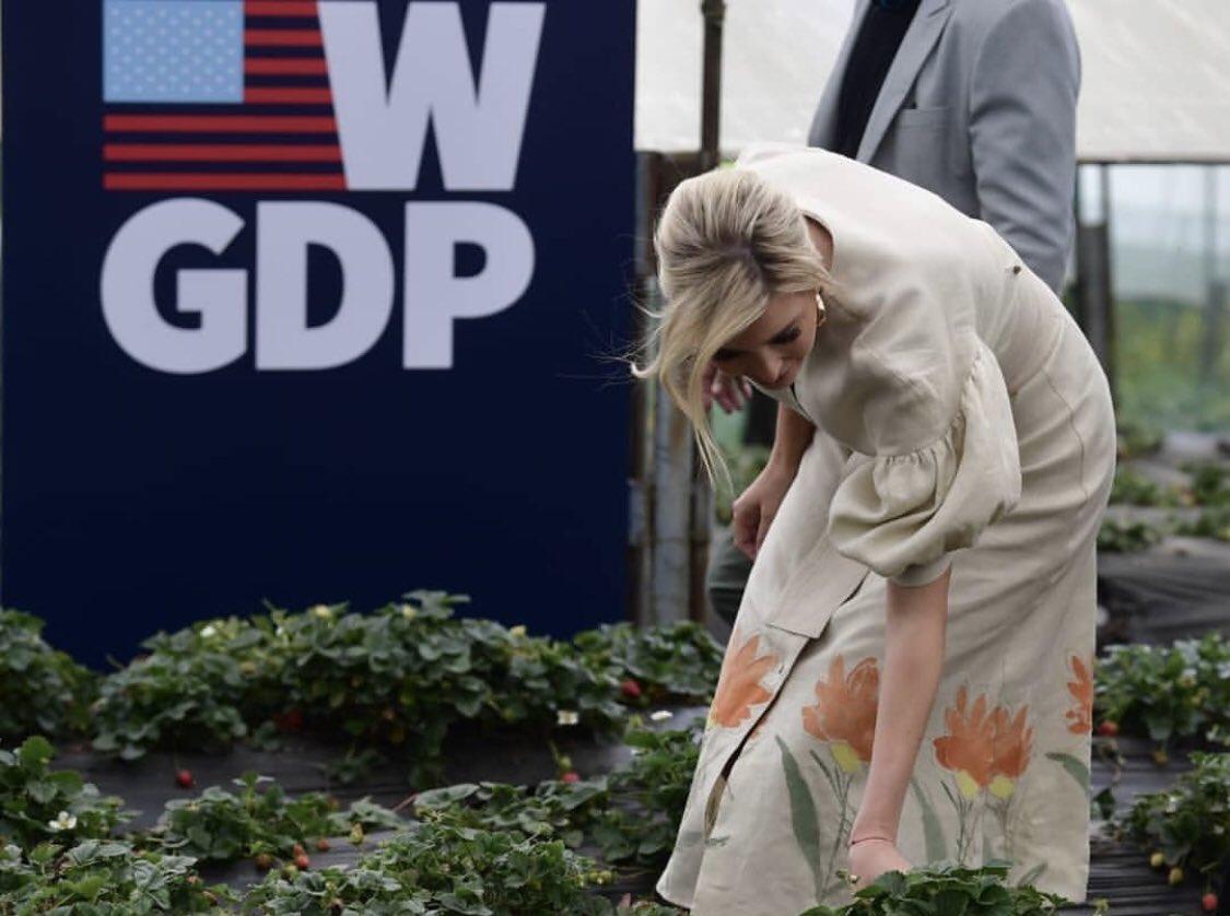 ( Twitter ) Ivanka Trump in Colombia promoting Women's Global Development and Prosperity Initiative (W-GDP).