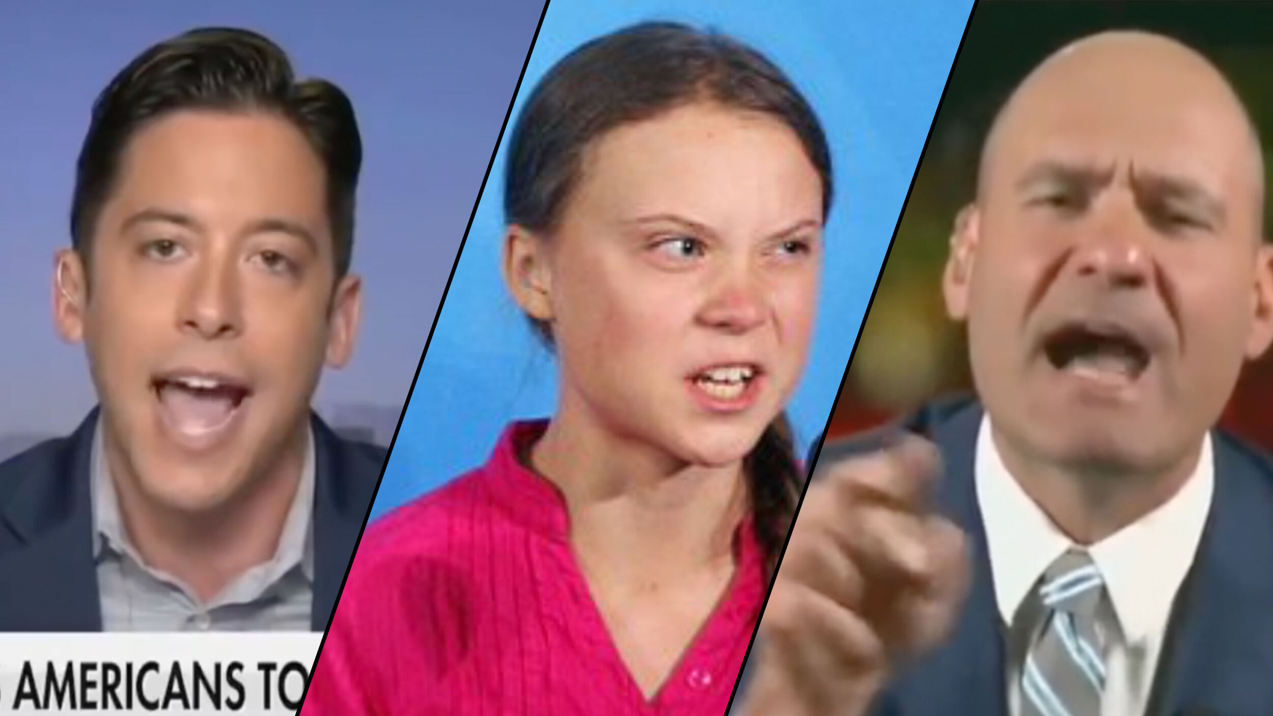 """Michael Knowles tells the truth about """"mentally ill Swedish child"""" Greta Thunberg, and Christopher Hahn pretends to be outraged."""