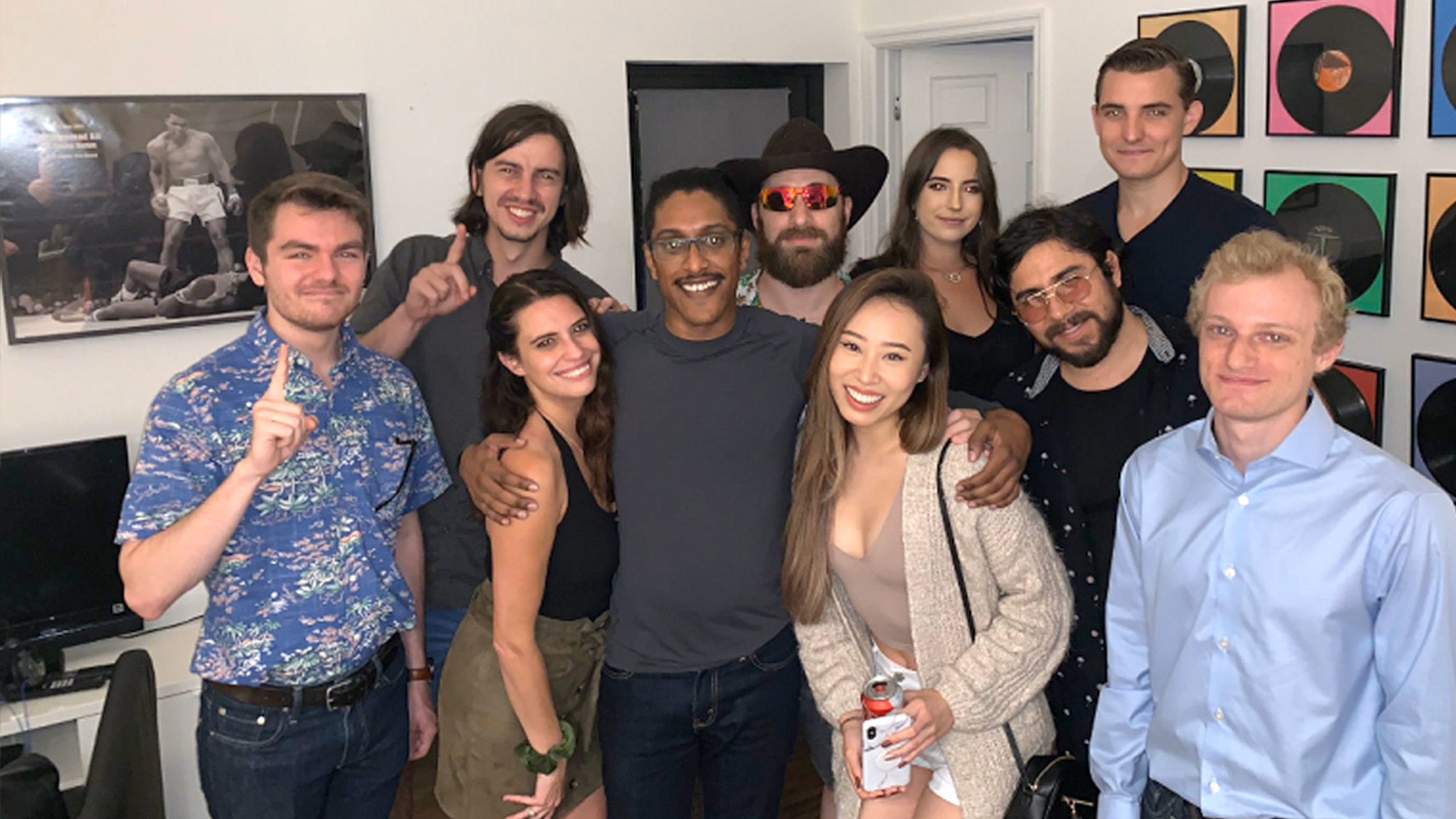 """Group pic that's """"controversial"""" because one guy in the pic is supposedly """"racist,"""" and another an """"anti-Semite"""" who's said nasty things about Jews and others. One woman in this pic was fired from a high profile conservative group over this."""
