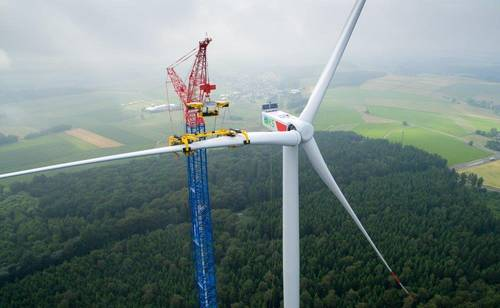 One of the tallest wind turbines in Germany. Source:  Wind Power Engineering