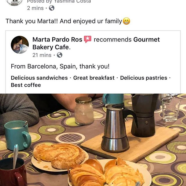 Whoa! A Long trip for ur product!! We are truly grateful to Marta... and it is an honor  to serve ur family... bise yas#spain🇪🇸 #viennoiseries #croissant