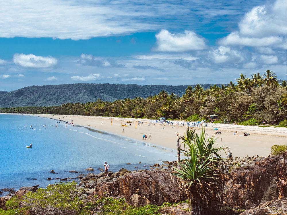 For Sam, a morning run along Port's magical four mile beach is a must do.
