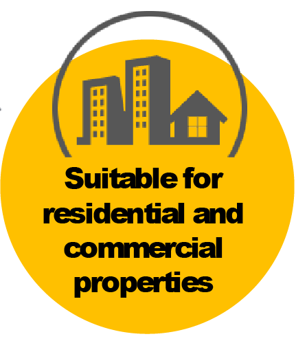 Suitable for Residential and Commercial Properties