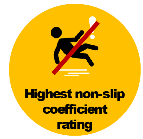 Highly Slip Resistant