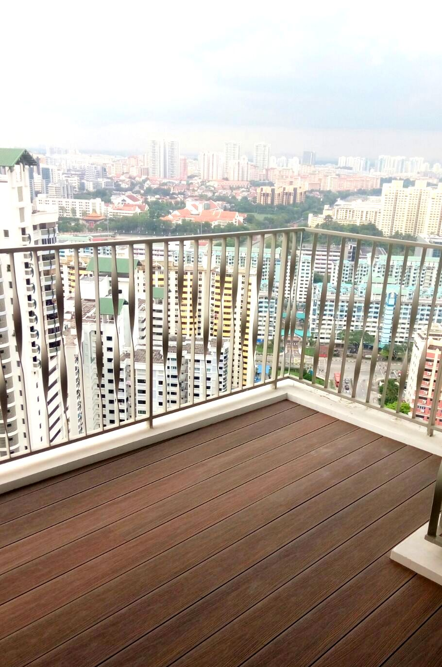 WPC Decking installed at a balcony in Toh Payoh, Singapore