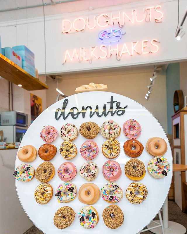 Got an event or party coming up? Don't forget our doughnuts wall which will be the best inclusion on the guest list 😉🍩 - Head to the 'Events & Catering' section of our website to view the price list and email us today to book yours!