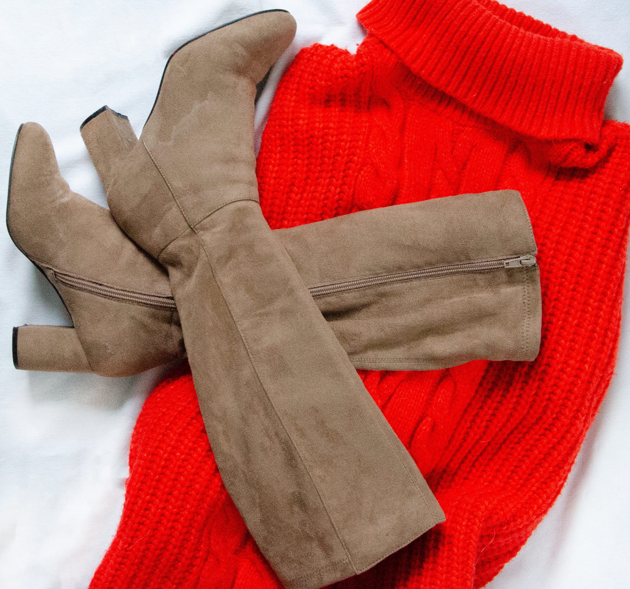 outfit 3 - Dress Sweater| Long suede boots (I already that this)TOTAL: 10.99 CAD