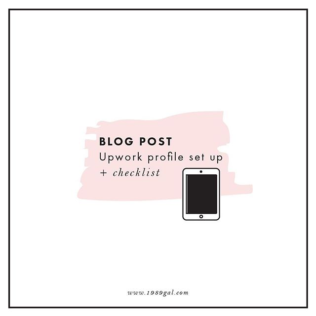 """Blog Post- today's article is all about how to set up your Upwork profile. - I have been on Upwork since 2014 and I have been growing with it every year. I started with $13/h and I am now charging $100/h. I still remember how much effort I put into creating my profile. What a journey! - - It was exhausting. There were so many things to fill in and I was uncertain what I was supposed to say. I remember asking myself """"What picture should I use?"""" """"What should I add as a title?"""" """"What the profile should say"""" """"How should I present my work?"""" Should I treat it as a resume?"""". I had so many questions! I bet you have too! - I put together an article and a checklist with my tips and tricks about how to create a professional profile on Upwork. - Link in bio #freelancer #freelancinglife #freelancingfemales #freelancinglifestyle #remotework #workfromhome #workfromhomemoms #workfromhomejobs #workfromhomedads #stayathomemomlife #workfromhomemommy #workfromhomedad #workfromhomeparents #homeofficelife #freelancerdesigner #graphicdesign #graphicdesignerslife #upworkfreelancer #upwork #upworker #keepgoing #successfulwomen #marketing #womenonupwork #bossbabe #makingmoney #graphicdesigners"""
