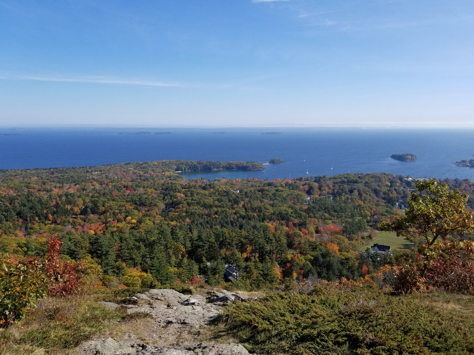 View of Penobscot Bay from Mt. Battie in the Fall