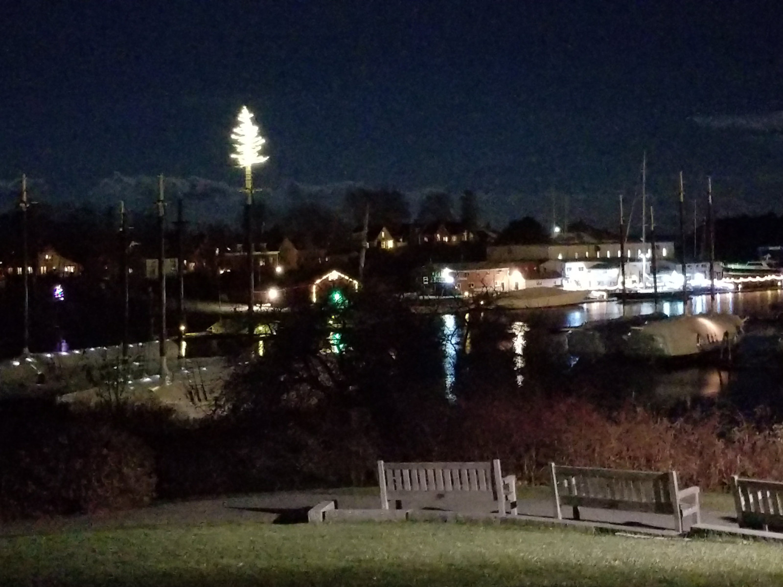 Camden Harbor at Christmas