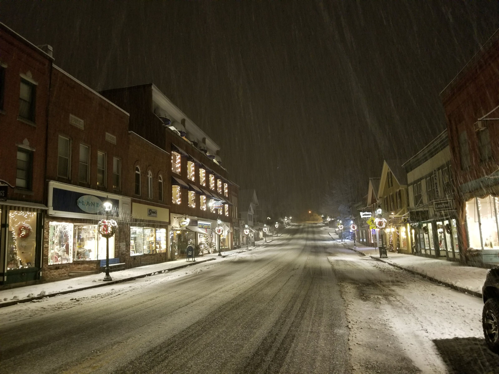 Camden at Night in the Snow