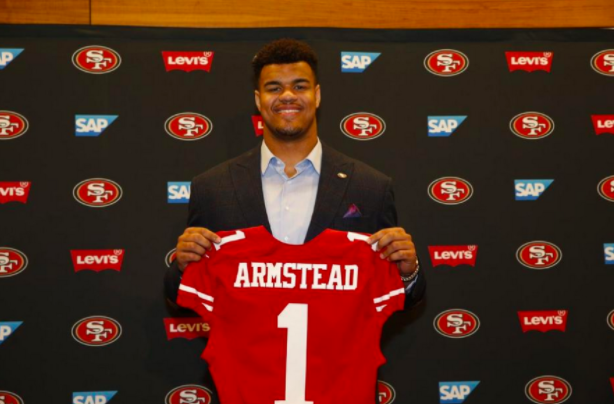 Arik Armstead - Arik Armstead is a star defensive lineman on the San Francisco 49ers. Entering his third year, he is projected to have a breakout season as he takes on a more leadership role with the new look team. Armstead has been around sports all his life coming from a sports family. In fact, it wasn't until his last year at Oregon where he decided to stop playing two sports (football and basketball) and focus solely on football. Armstead is a pillar in his community and frequently gives back. He host an free annual football camp for underprivileged youth in Sacramento, California.