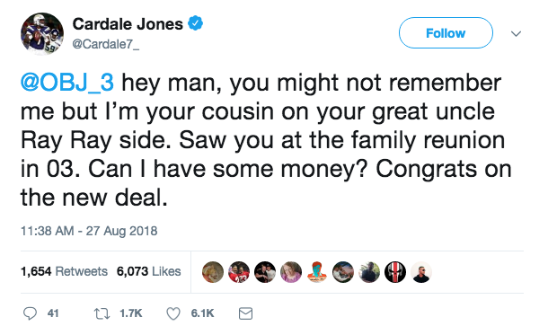 NFL Player Cardale Jones giving a glimpse of what Odell Beckham may face after his new contract extension
