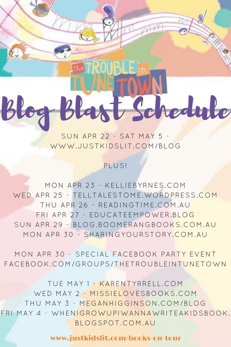 Trouble in Tune Town books on tour schedule.jpg