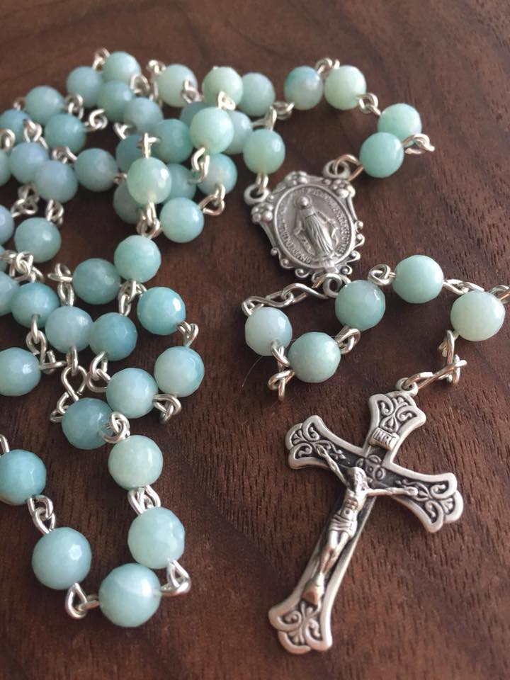 Amazonite Solid Sterling Rosary