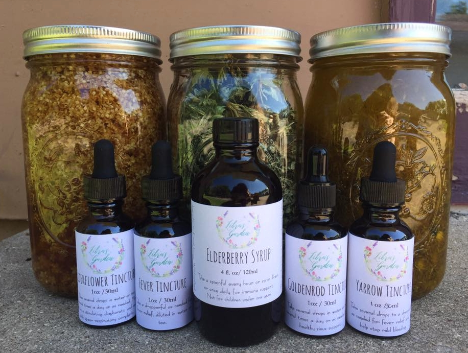 These herbal creations here are the results of much study, hours of wildcrafting and processing herbs, time spent ordering containers and designing and printing labels, and photographing to create online listings. So much work goes into these finished goods!
