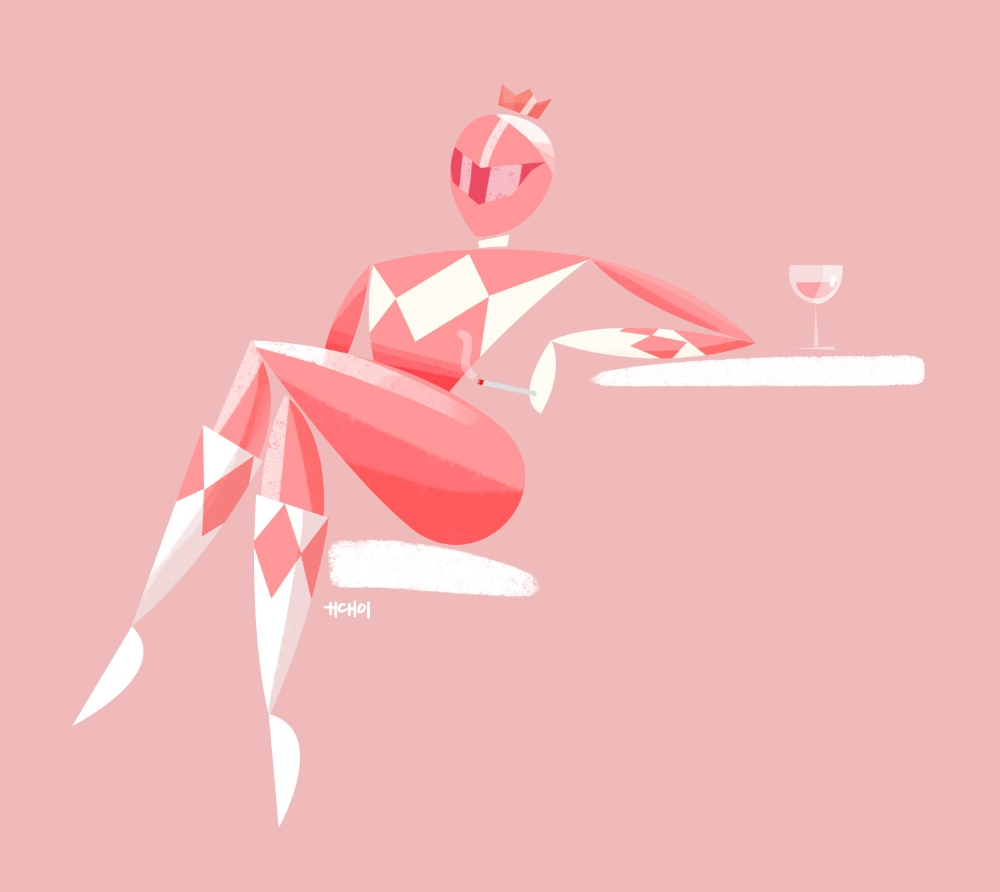The forgotten rose-gold Power Ranger. Her dinosaur power coin is her sugar daddy and she just sits around drinking rosé while smoking Virginia Slims.