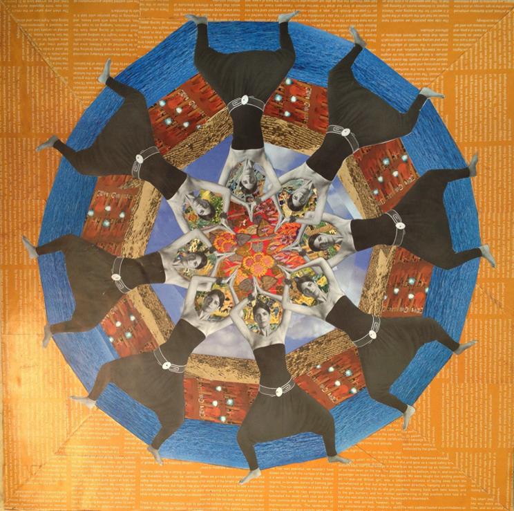 Recycled Mandala - Fire