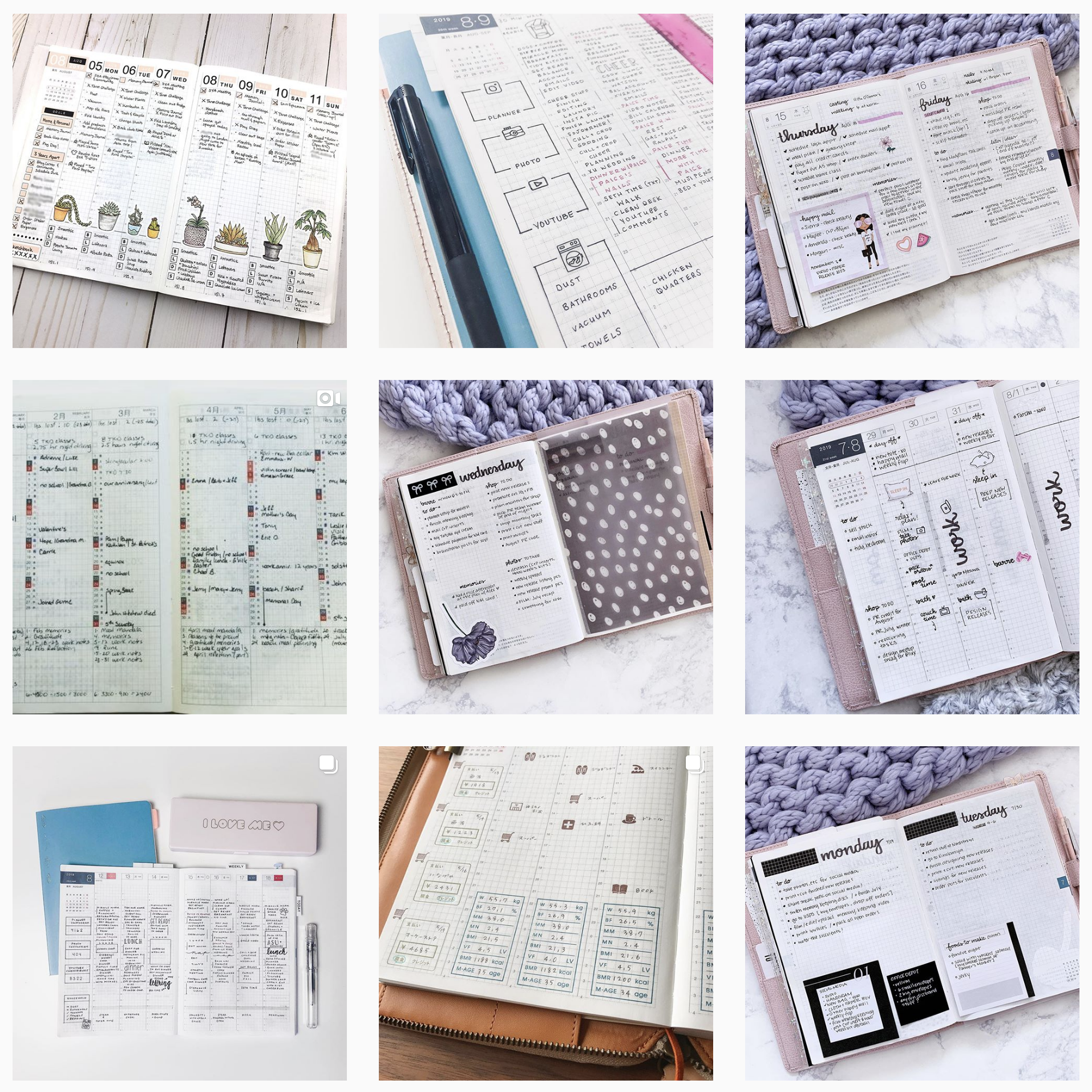 Hobonichi Planner photos from Instagram