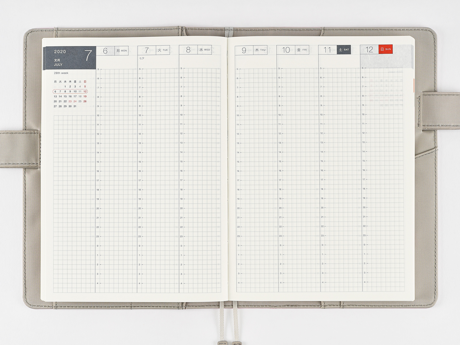 Cousin (A5) Weekly Spread - From Hobonichi Website