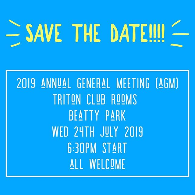 Our AGM date has been set..... put in your diary and come along to get involved in our great community club. Our club is run by a small group of amazing volunteers - and we would love some help. Come and get involved by attending our AGM in July. . . . #tritonfamily #tritonwaterpoloclub  #communitysportingclub #weneedyourhelp #getinvolved #actbelongcommit