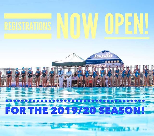 Registrations for the 19/20 season are NOW open. Fees remain the same as last season 🙌🏼 Head to our website to register! Or click on link in our bio. . . See you poolside at training soon.