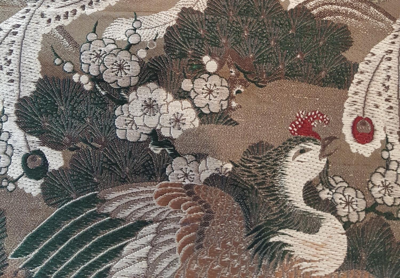 Finely woven japanese obi 651.jpg