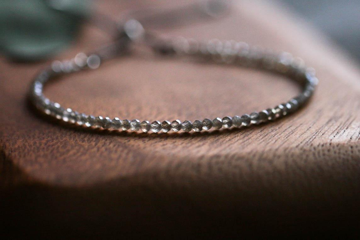 Labradorit-glitzer-feines Armband