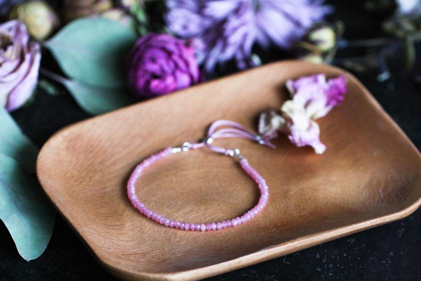 feines-rosa-Armband-rosenrotes