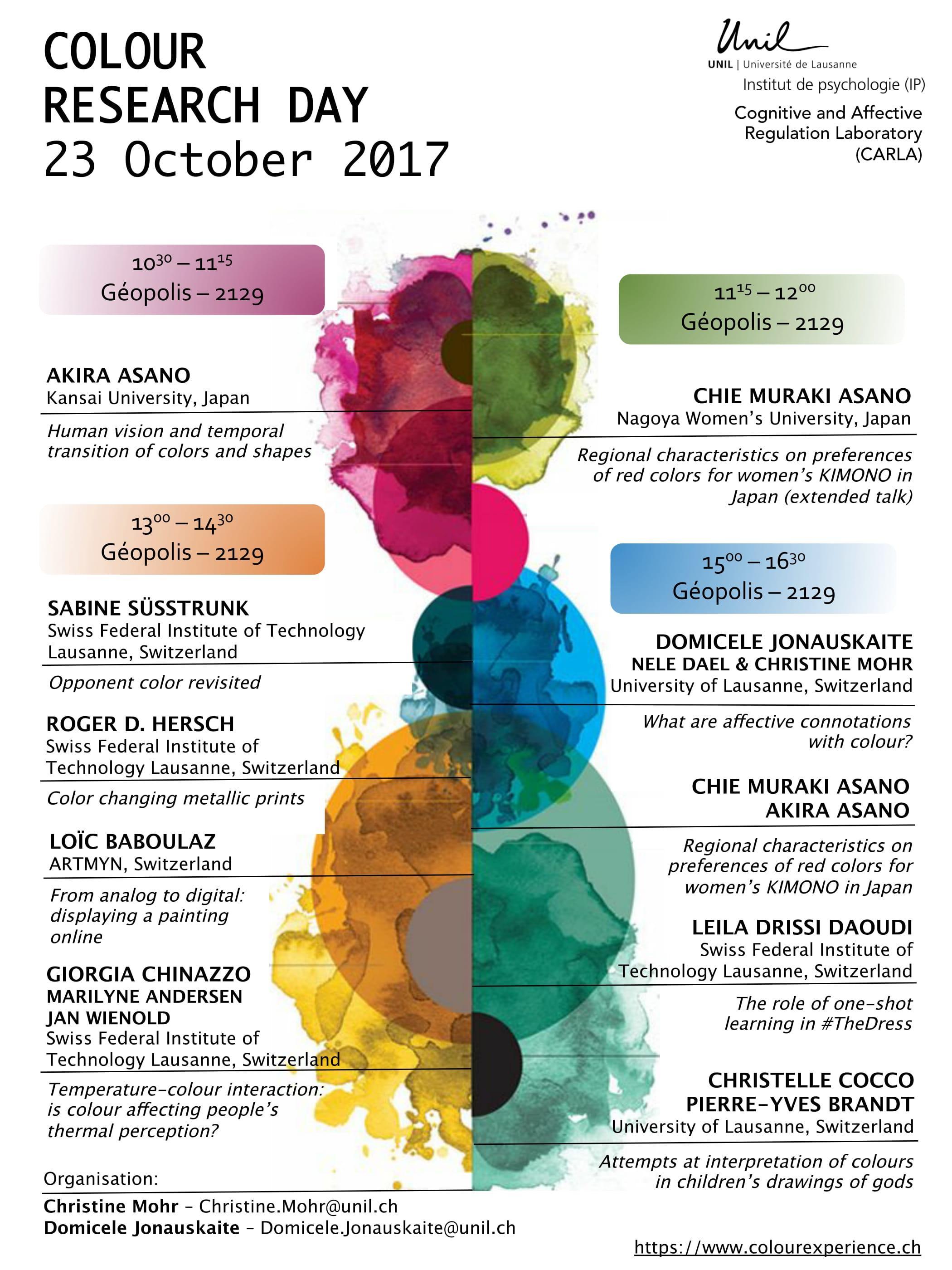 Colour Research Day 2017 program