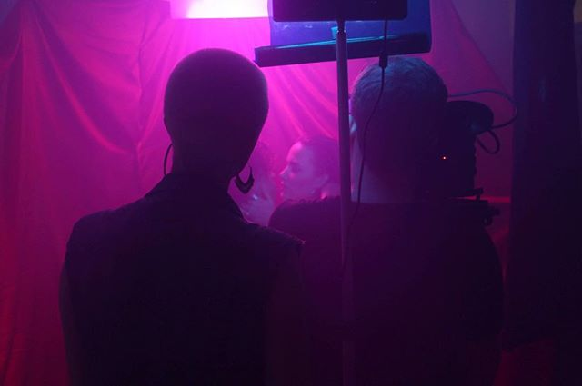 Behind the scenes of @lucywhittakeruk new music video, directed by @lil.gwynneth and DOPd by @jacobsacksjones - - - - -  #bts #behindthescenes #musicvideo #femalefilmmaker #filmproduction #satin #musicproduction #creatives #london