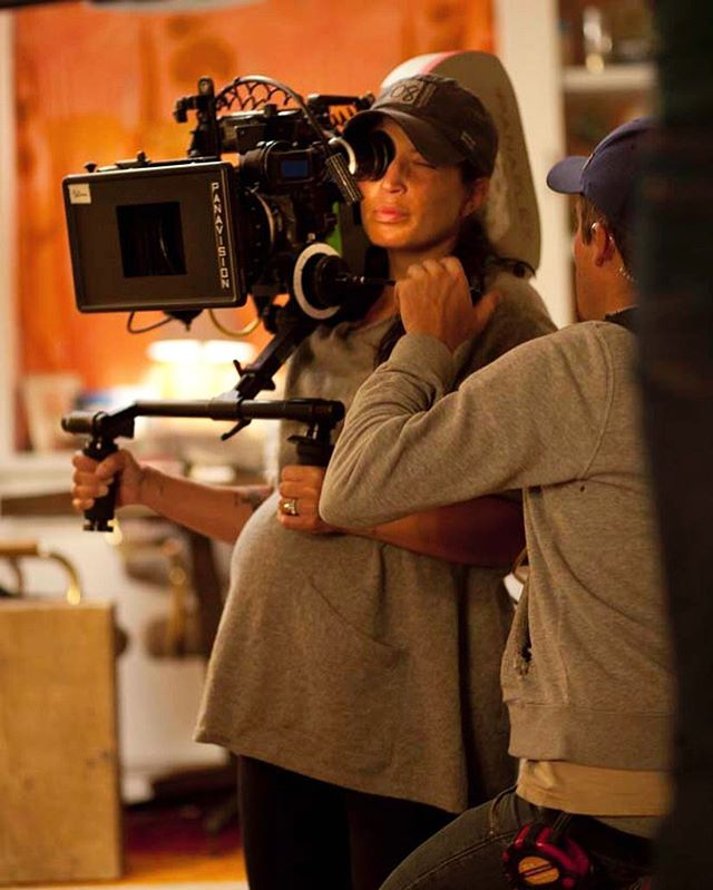 INCLUSION RIDER. In the lead up to International Women's Day, I'll be posting images of important women in the film industry. 3. REED MORANO. American cinematographer, director and mother, the photo speaks for itself. - - - - - - #reedmorano #womeninfilm #femaledop #femalecinematographer #cinematography #panavision #timesup #inclusionrider #killyourdarlings #thehandmaidstale #femaledirector #filmmaking #potd #film #camera #cinema #internationalwomensday #pregnant