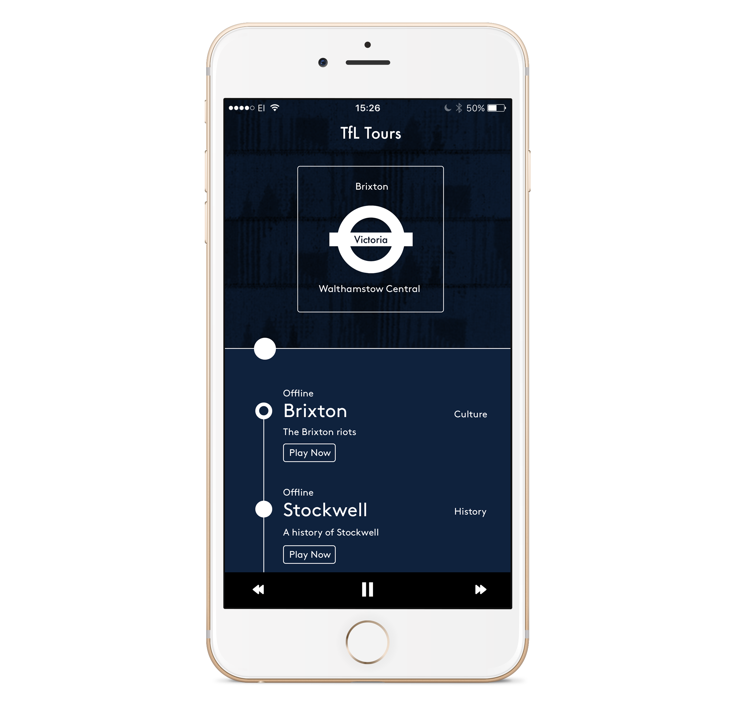 Underground - Learn about the London Underground with offline mode. Just select the tube line, download the stories in advance and listen to them even without signal.