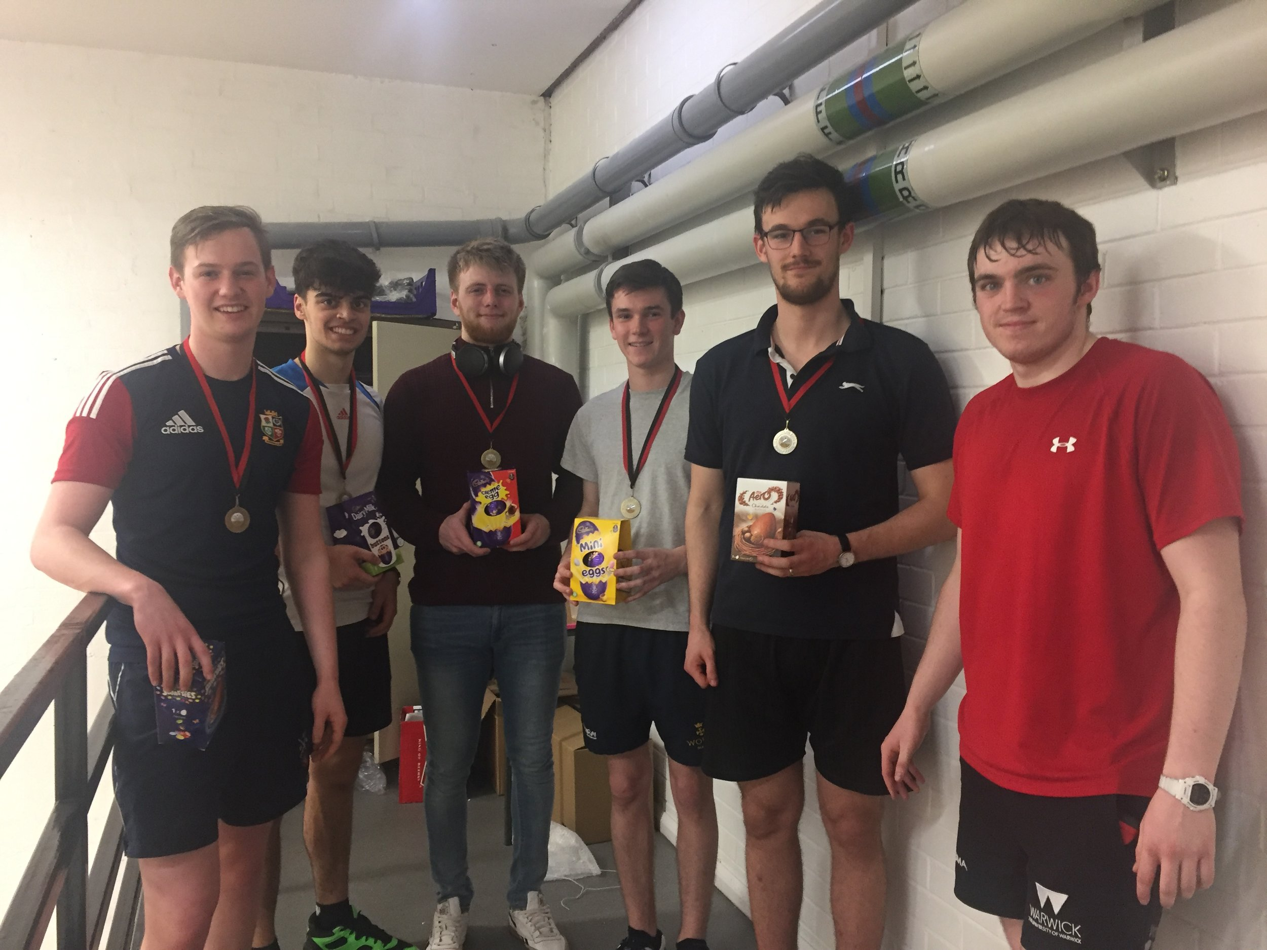 'Squish Sqwash Squash' (Team 8) - Winners of WarwickSquash Internal League 2019