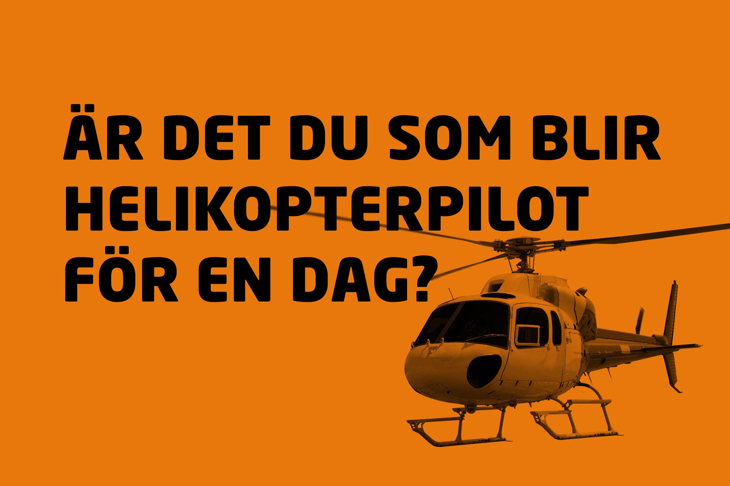 Helikopterpilot för en dag