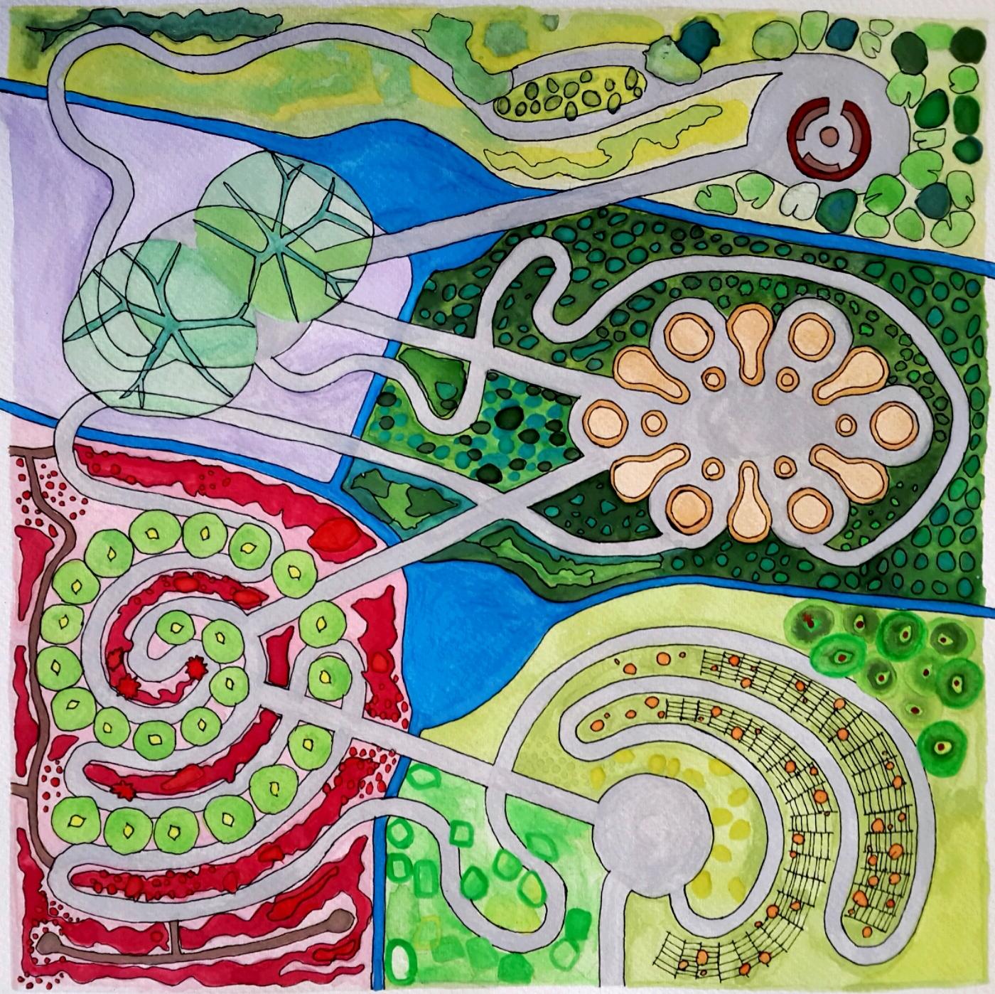 Shamba Masterplan Watercolour