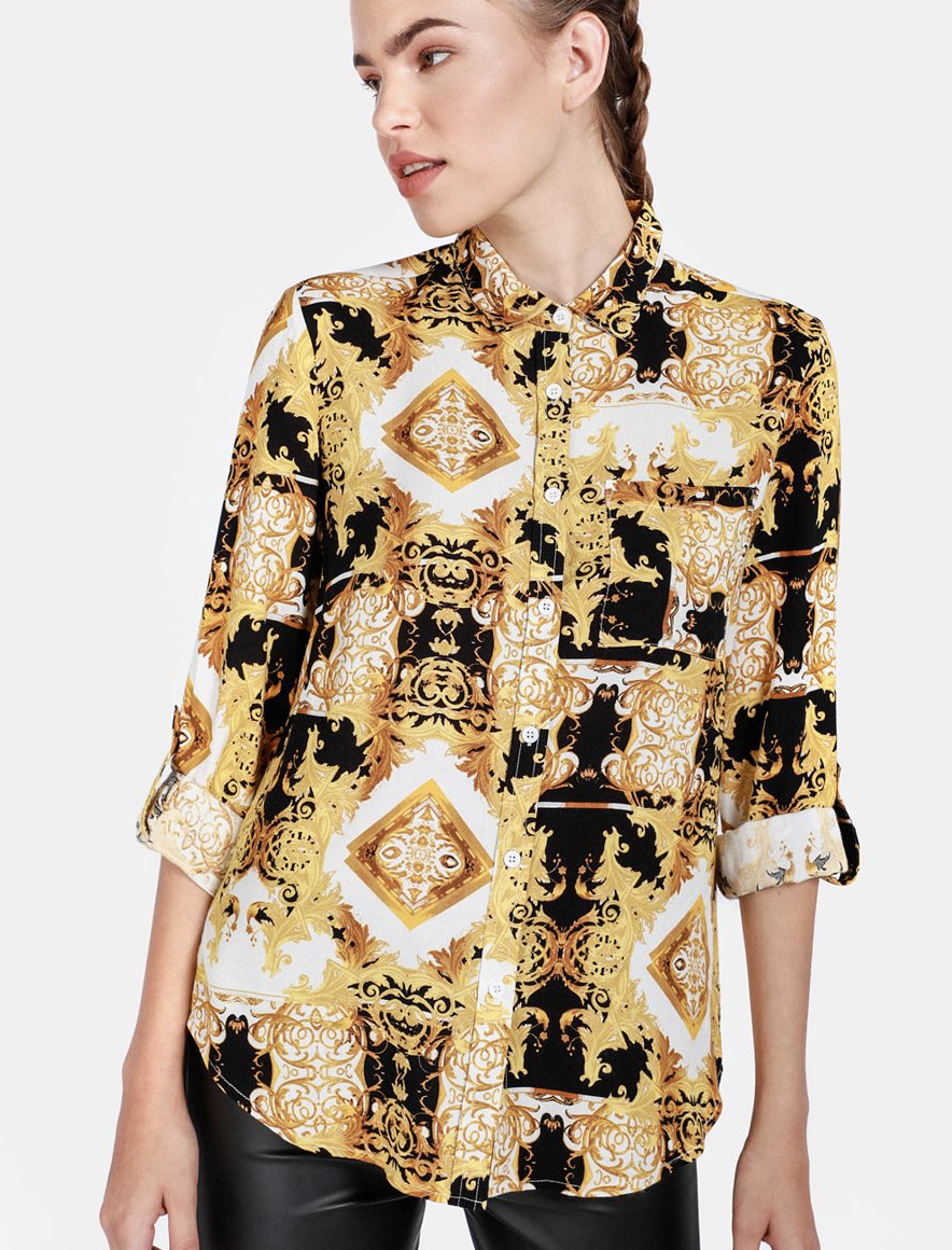 Scarf Print Shirt    R139.99    Versace-esque shirts are a big thing right now and this one is not only a great versatile trend piece to add to your wardrobe but also 100% cotton.