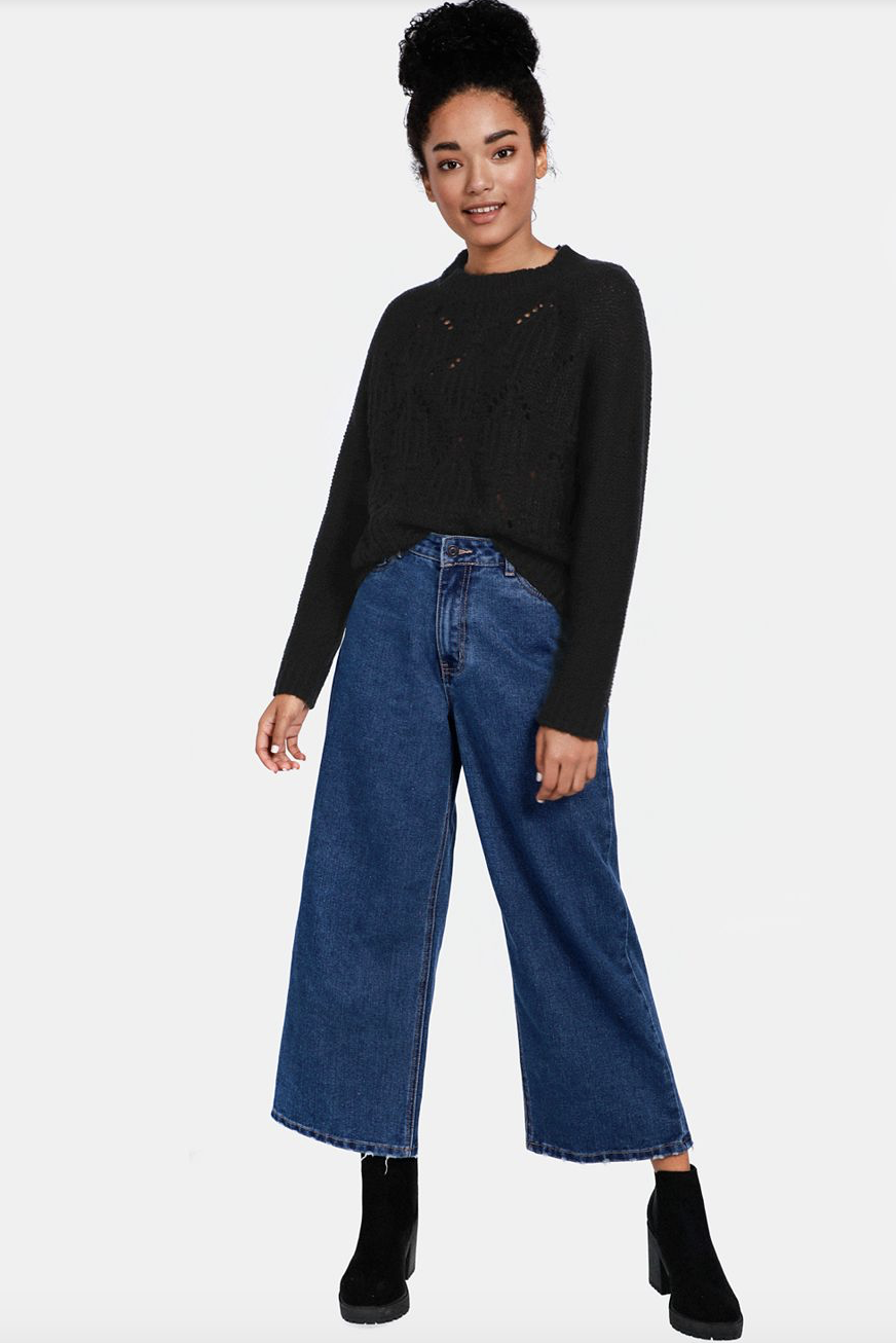 Wide Leg Jeans    R199.99    I personally love a wide leg jean which hits just by the ankle allowing your boots to be exposed - a good shoe should always be on display.