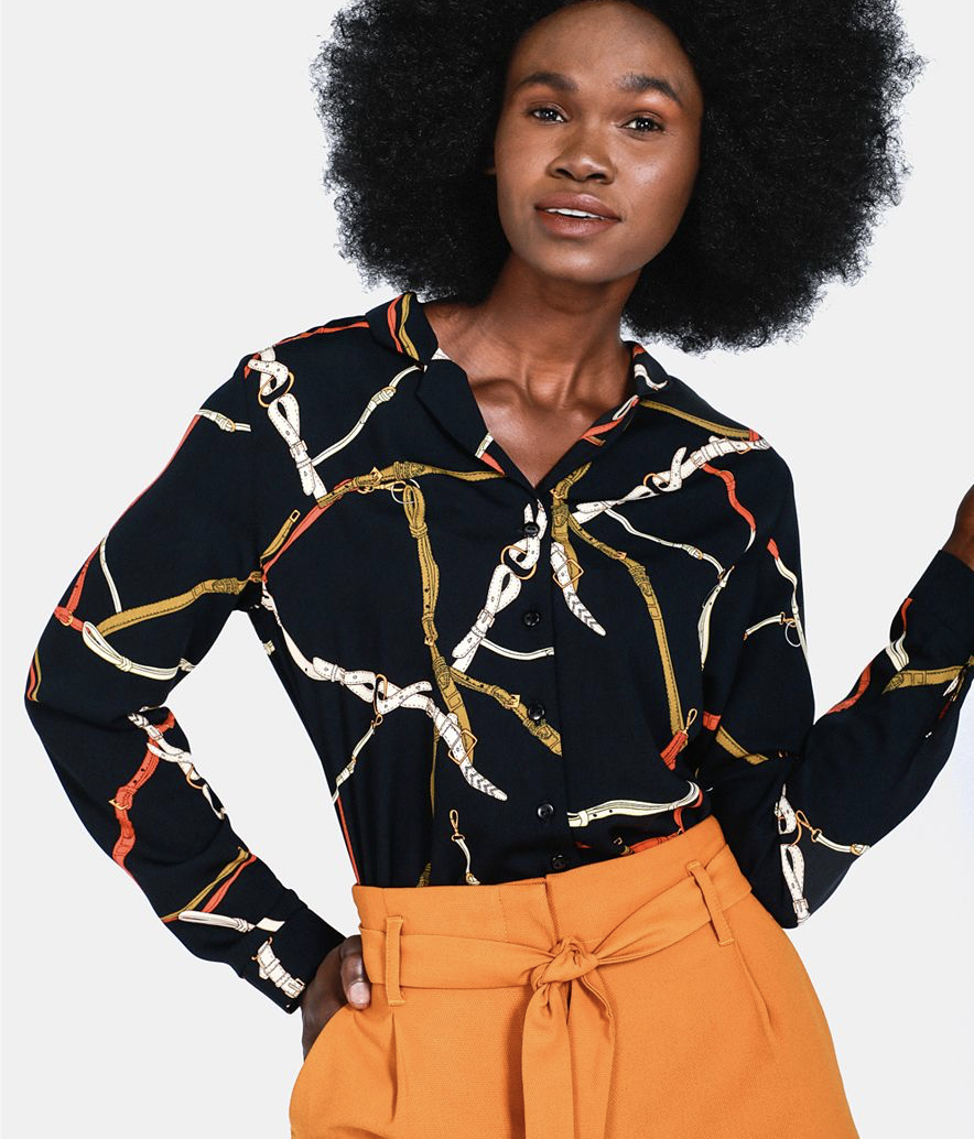 Patterned Shirt    R139.99    If you aren't too keen on wearing a large amount of print, opt for this chain print shirt instead of the entire skirt. If you're feeling really crazy…suit anyone?