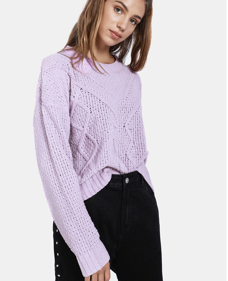 Cable Knit Pullover    R179.99    Lilac is a great colour for all year round but also so great to add to your winter wardrobe to brighten up your day.