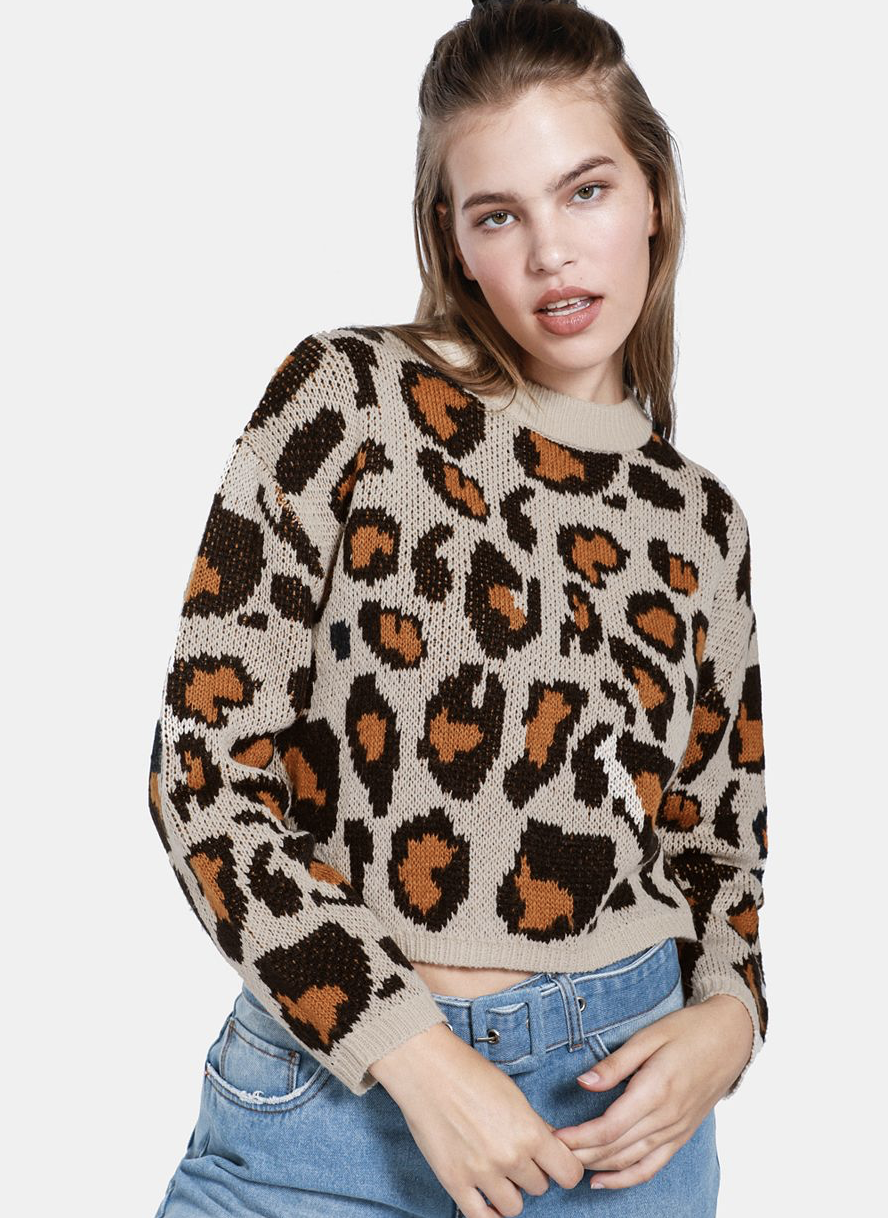 Animal Printed Pullover    R169.99