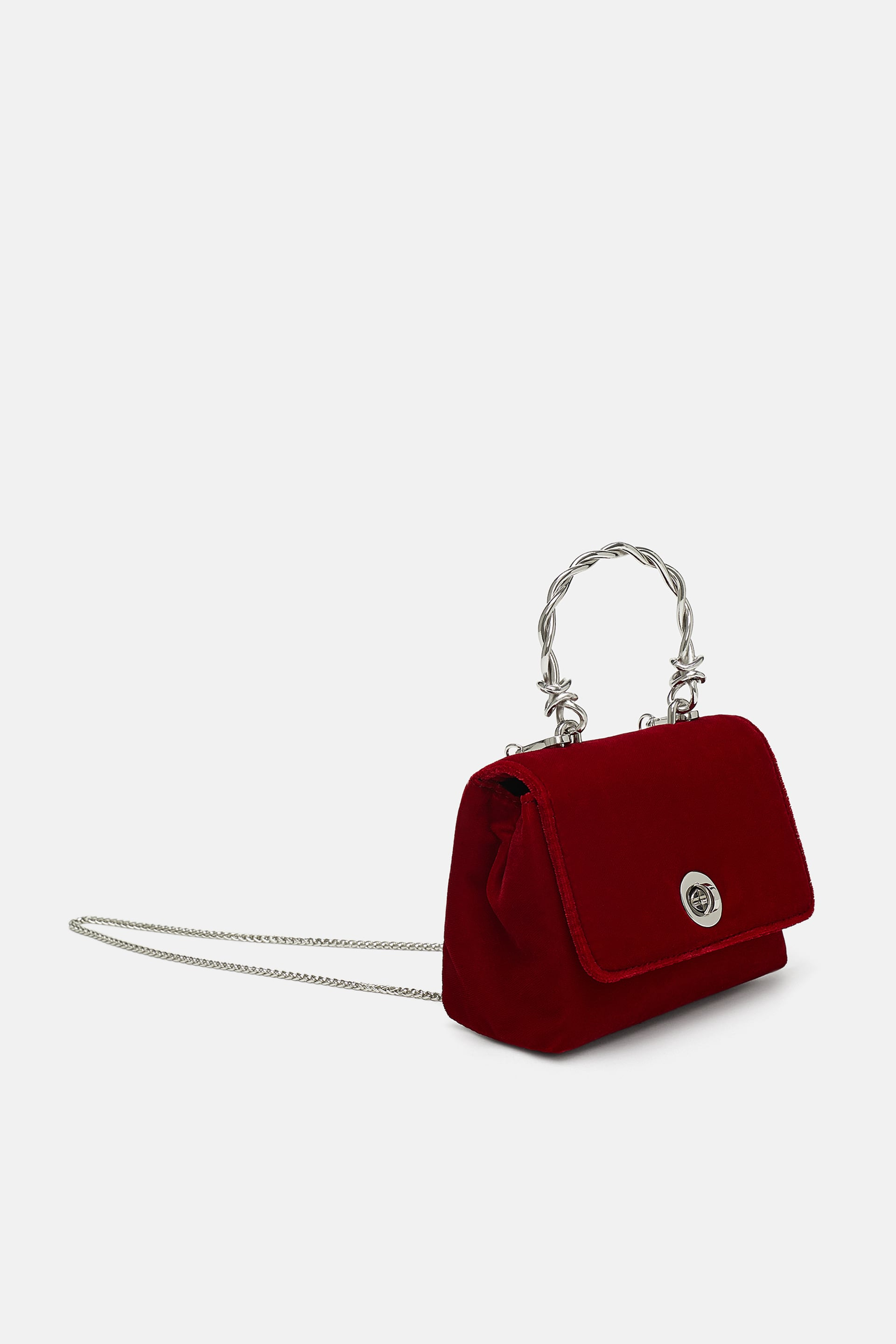 Copy of Copy of ZARA MINI VELVET MESSENGER BAG