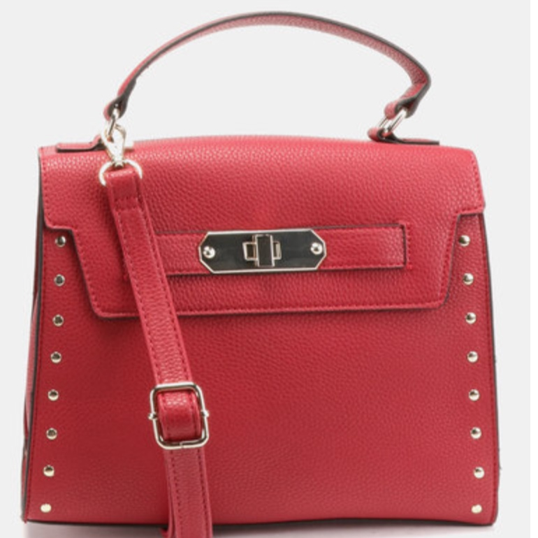 Copy of NEW LOOK OLIVIA ROUND METAL CROSSBODY BAG BRIGHT RED